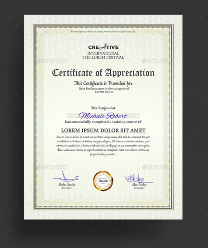 ultra clean diploma degree certificate template