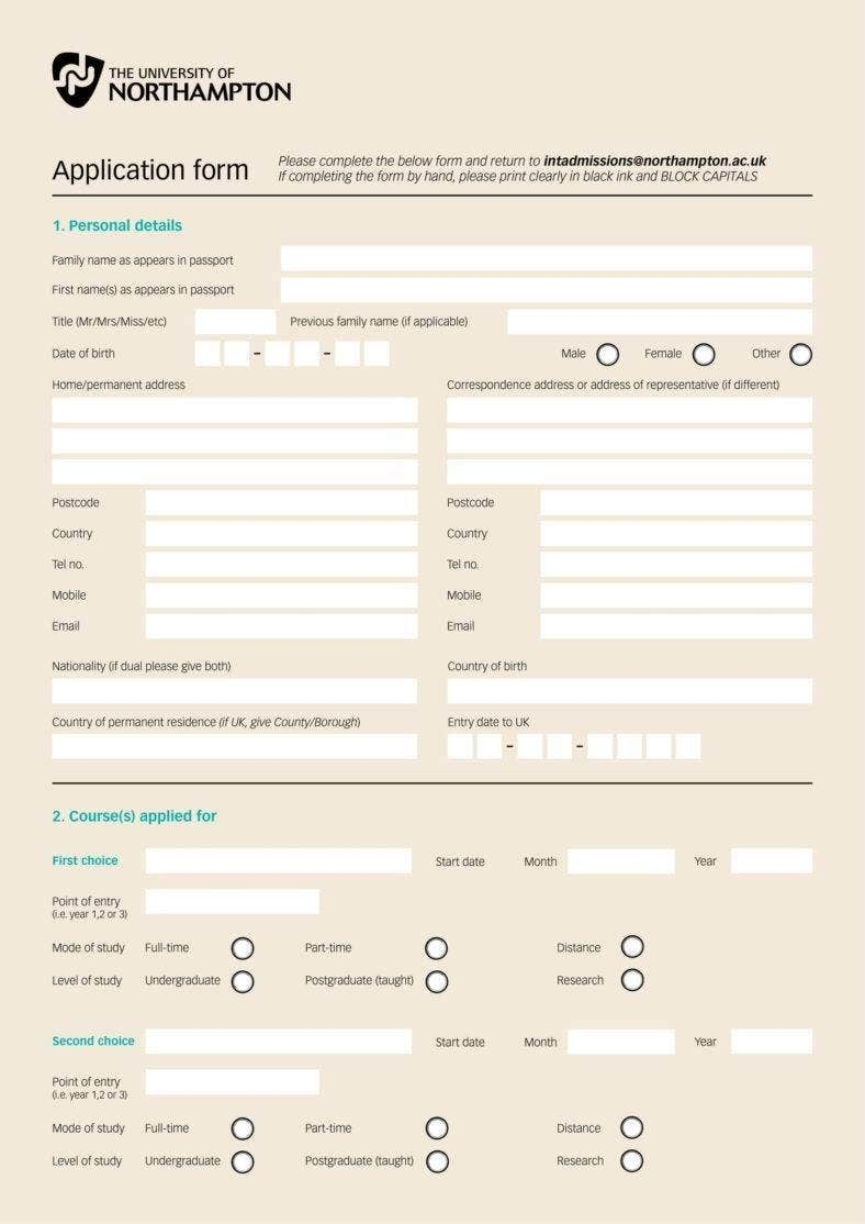 university application form 788x1114