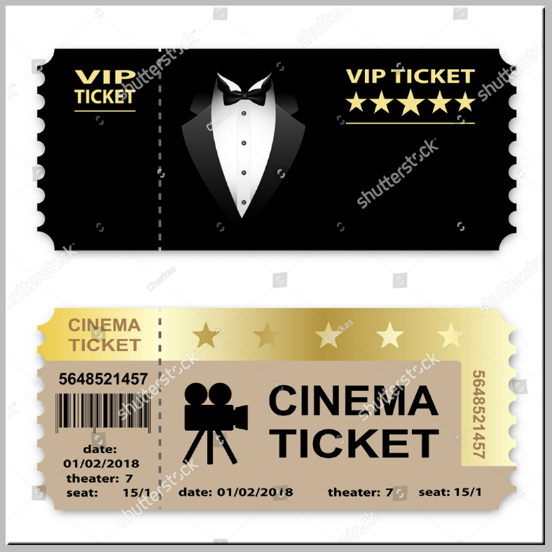 VIP Cinema Service Ticket Template