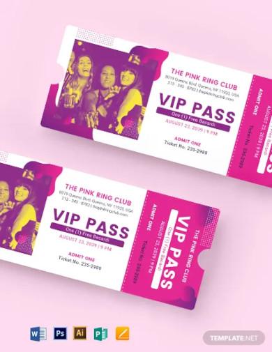vip invitation ticket template