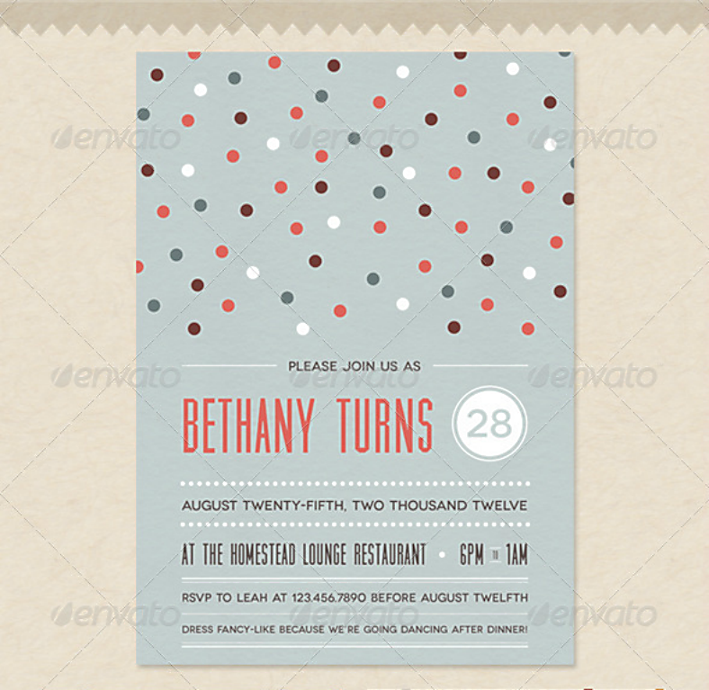 vintage birthday confetti invitation template 788x767