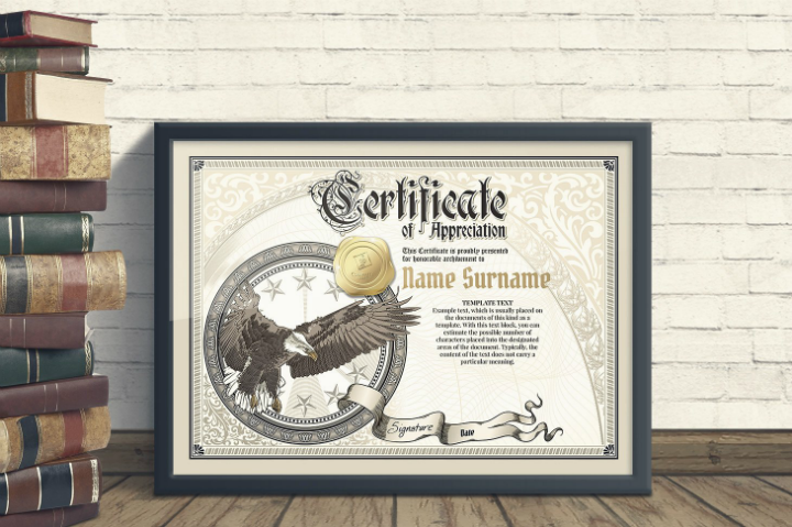 vintage degree certificate template
