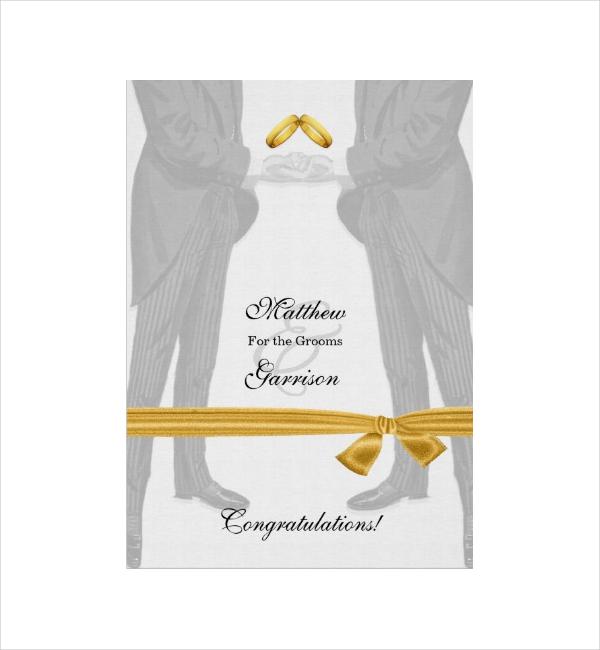 Vintage Gay Wedding Congratulation Card