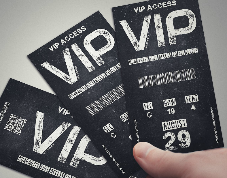Vintage Grunge VIP Invitation Template