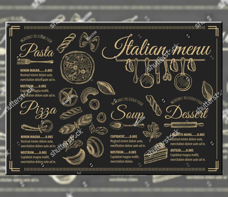 vintage hand drawn pasta menu template 788x680