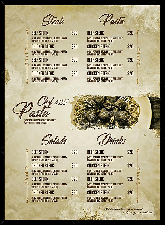vintage style italian restaurant menu template 788x1075