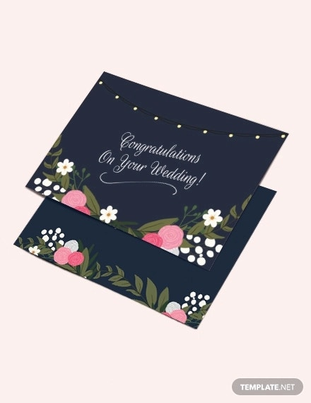 11 Wedding Congratulations Card Designs Templates Psd Ai Google Docs Apple Pages Free Premium Templates