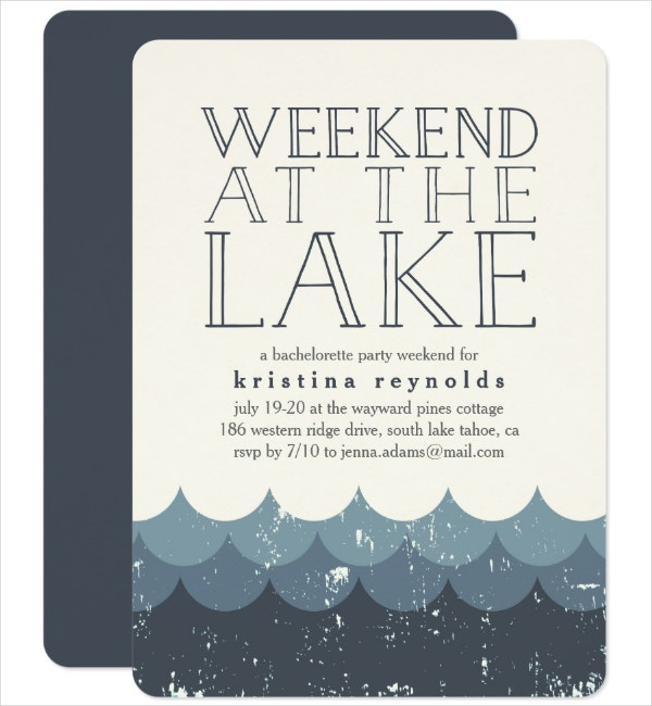 weekend party invitation template