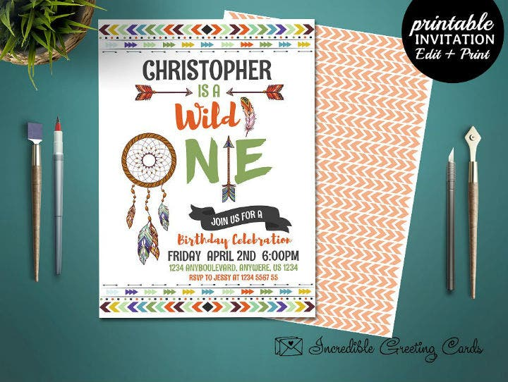 wild-one-boho-boy-birthday-invitation-template