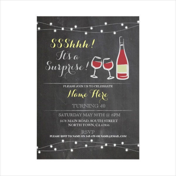 wine birthday party invitation