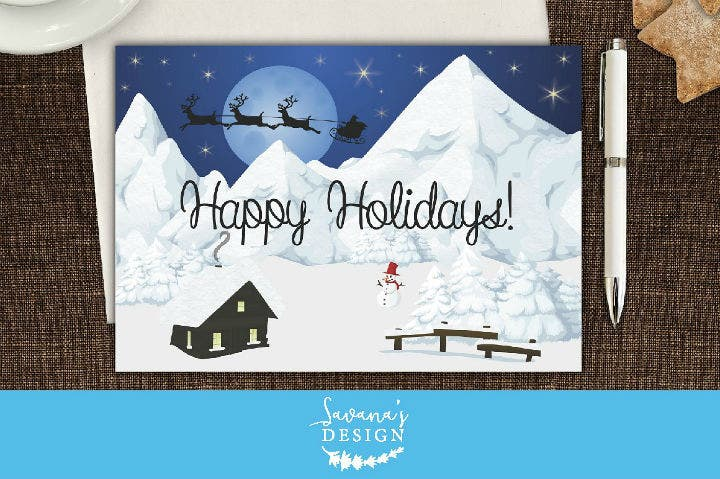 winter-wonderland-christmas-note-card-template