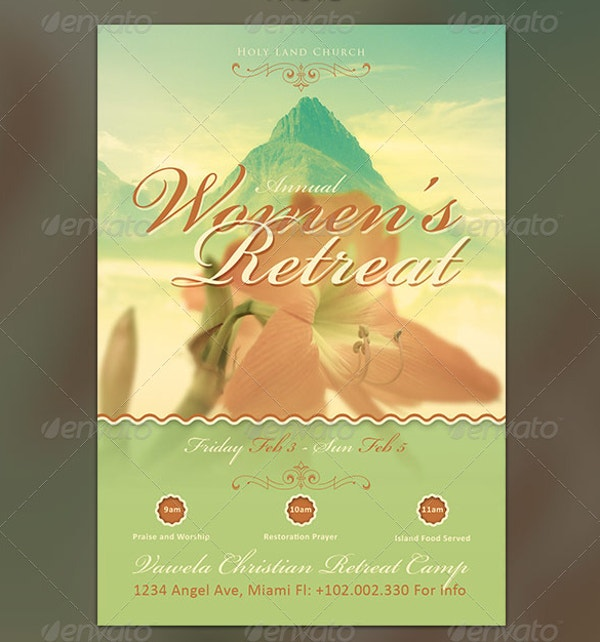 Women's Retreat Church Flyer Template