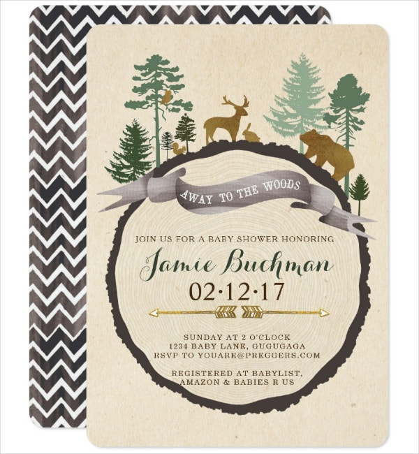 woodland tribal invitation template