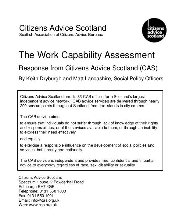 Work Capability Assessment