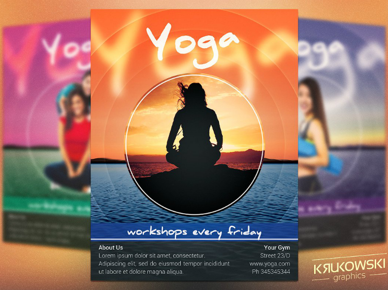Yoga Workshop Flyer Template