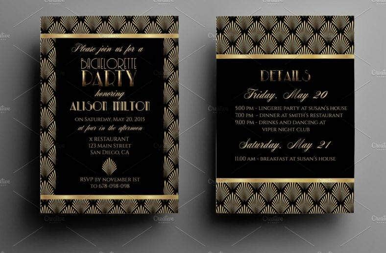 bachelorette party weekend invitation template  788x516