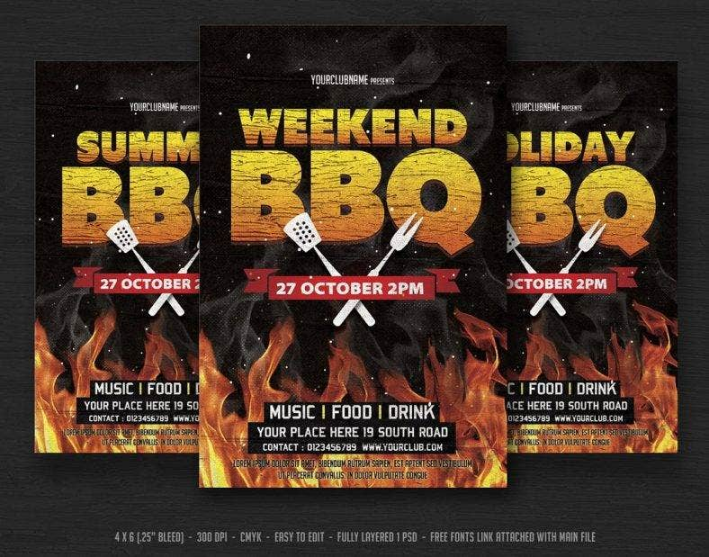 bbq weekend invitation template  788x619