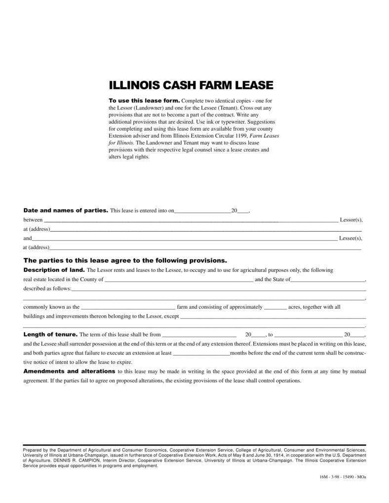 8 farm lease agreement templates pdf free premium for Farm rental agreement template