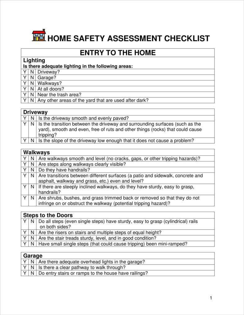 4 Home Safety Assessment Templates Pdf Doc Free Premium Templates Your goal is to get to know your student's. 4 home safety assessment templates