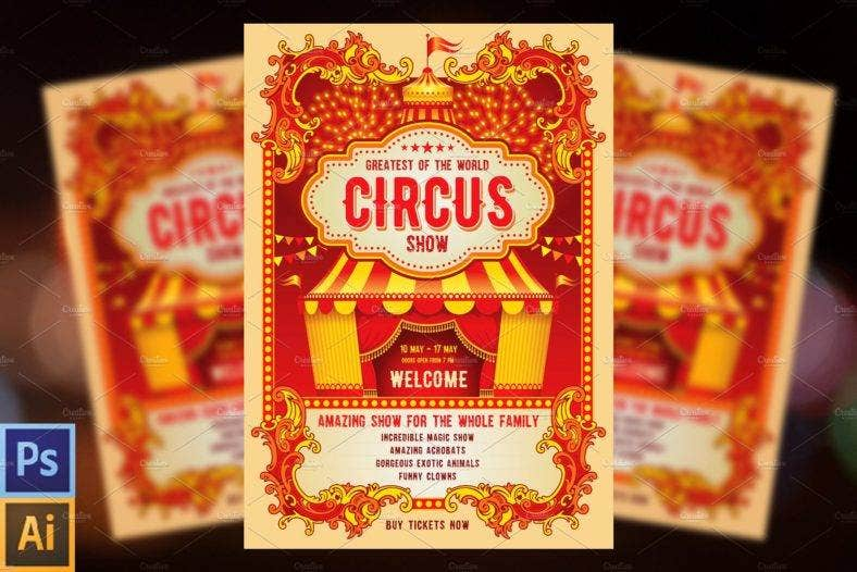 circus-event-announcement-template