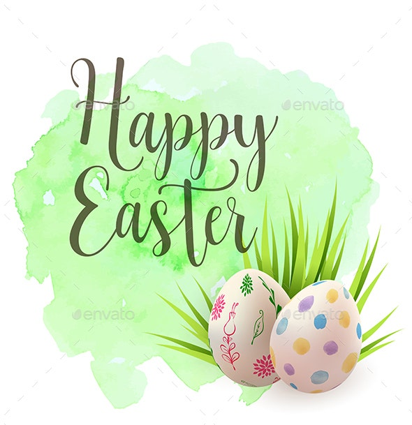 easter small greeting card template