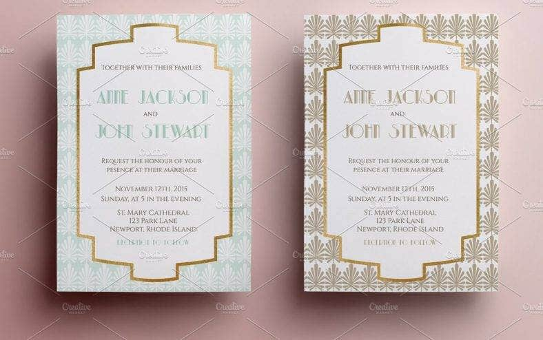 elegant art deco invitation template 788x494