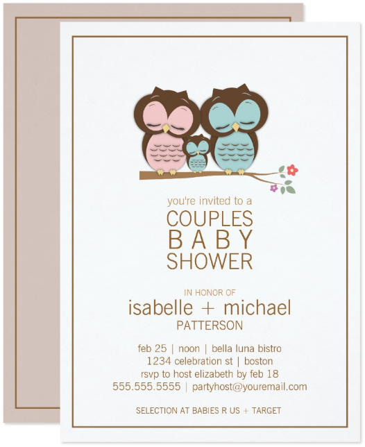 family-owl-invitation-template