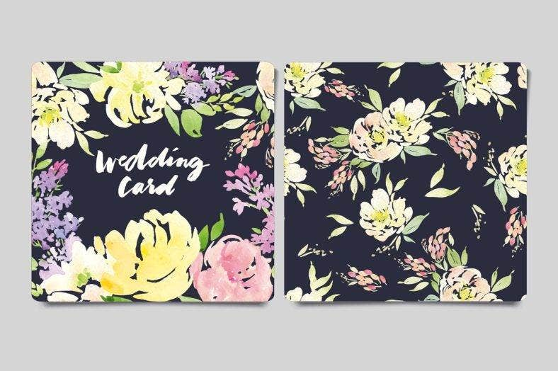 floral-small-greeting-card-template