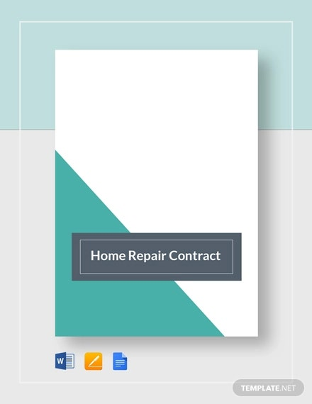 home repair contract