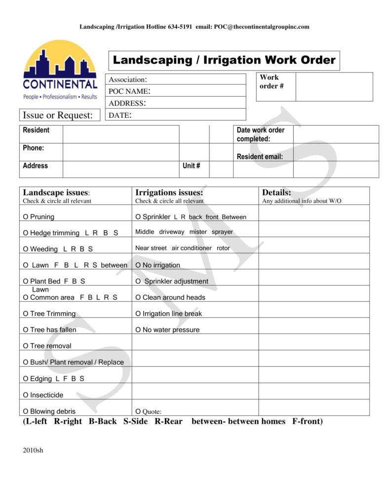 4  landscaping invoice templates