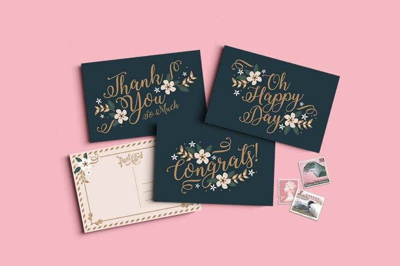 monaco-small-greeting-card-template