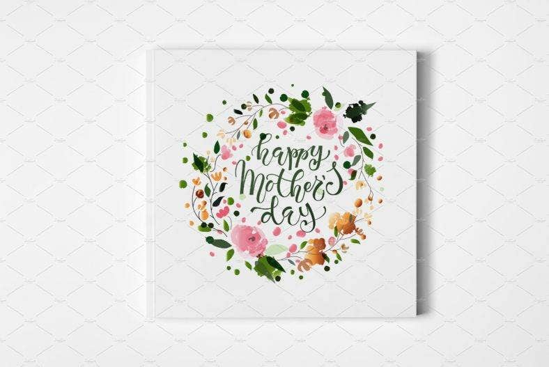 mothers-day-small-greeting-card-template