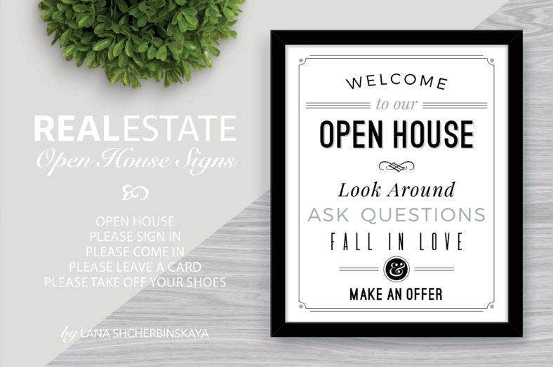 open house welcome signage template 788x524