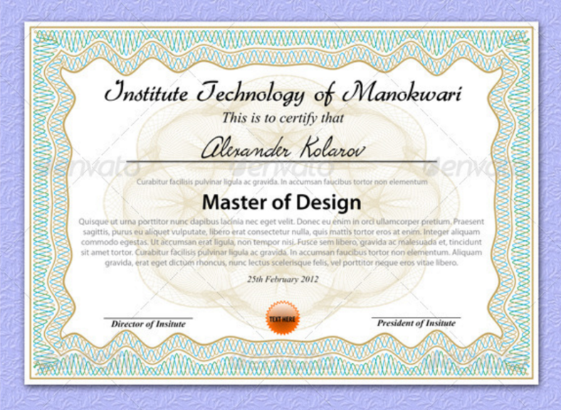 patterned-education-certificate-template