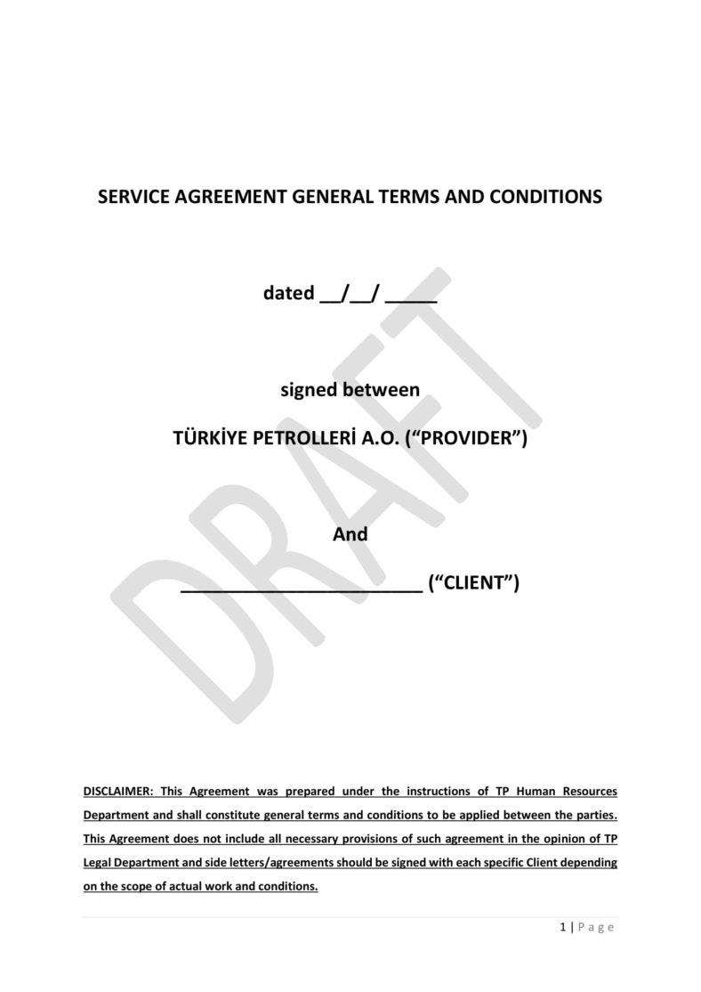 6 services agreement templates pdf free premium for Generic terms and conditions template