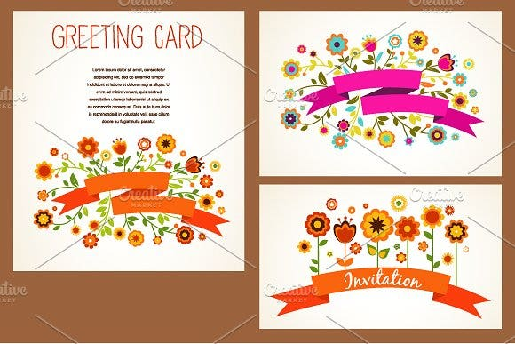 vector small greeting card template