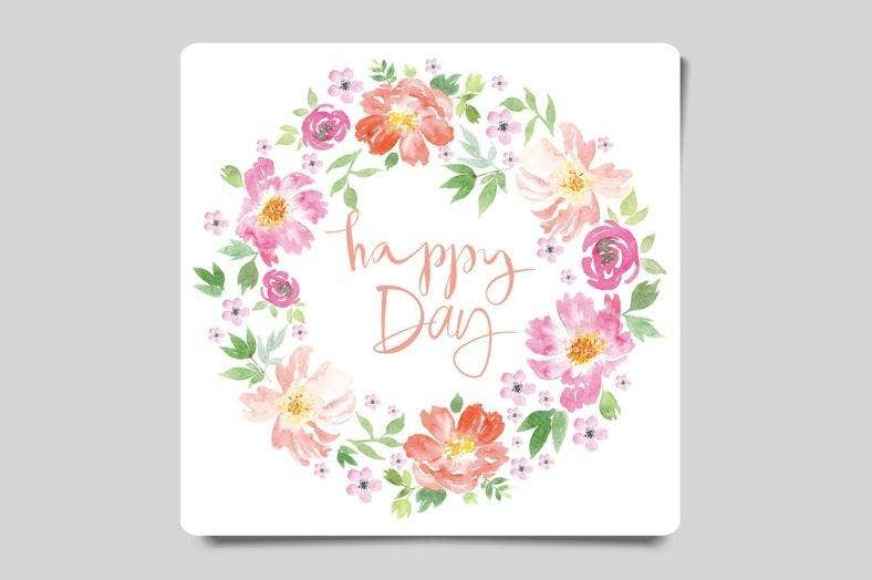 watercolor small greeting card template 788x524