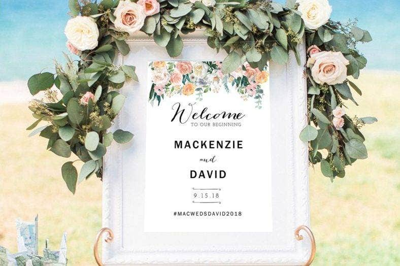 wedding welcome signage template 788x524