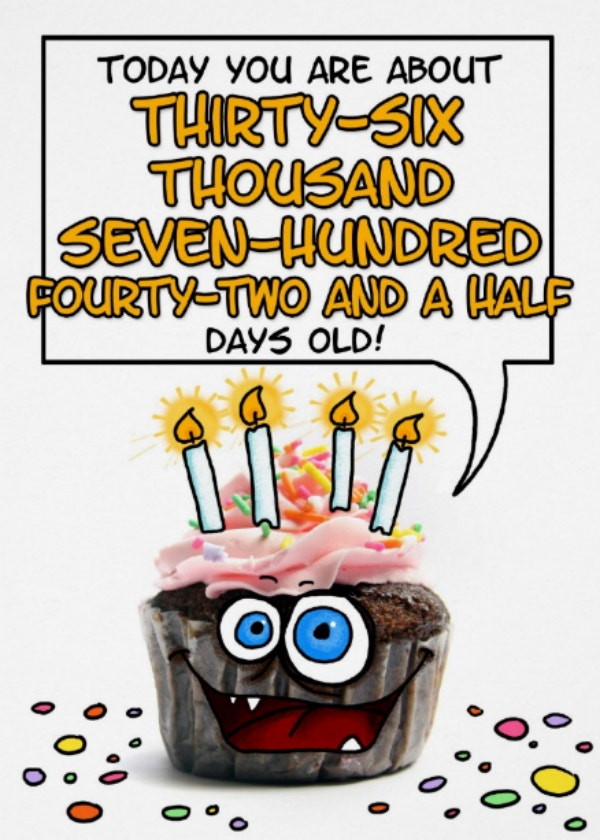 100th Birthday in Days Card