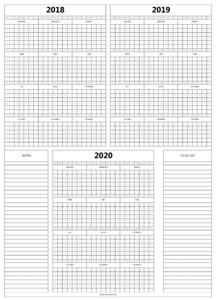 2018-to-2020-calendar-with-notes-736x1024