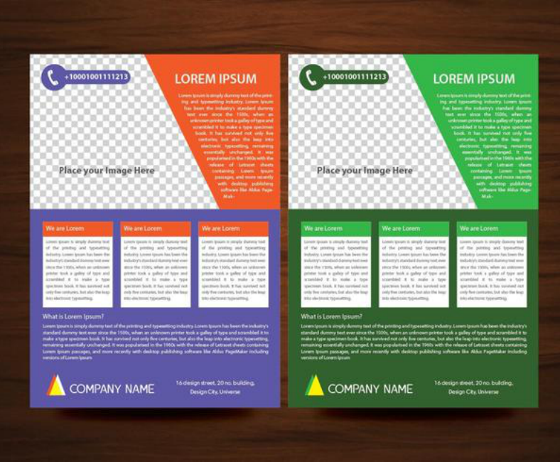 a4 size business flyer layout template 788x650