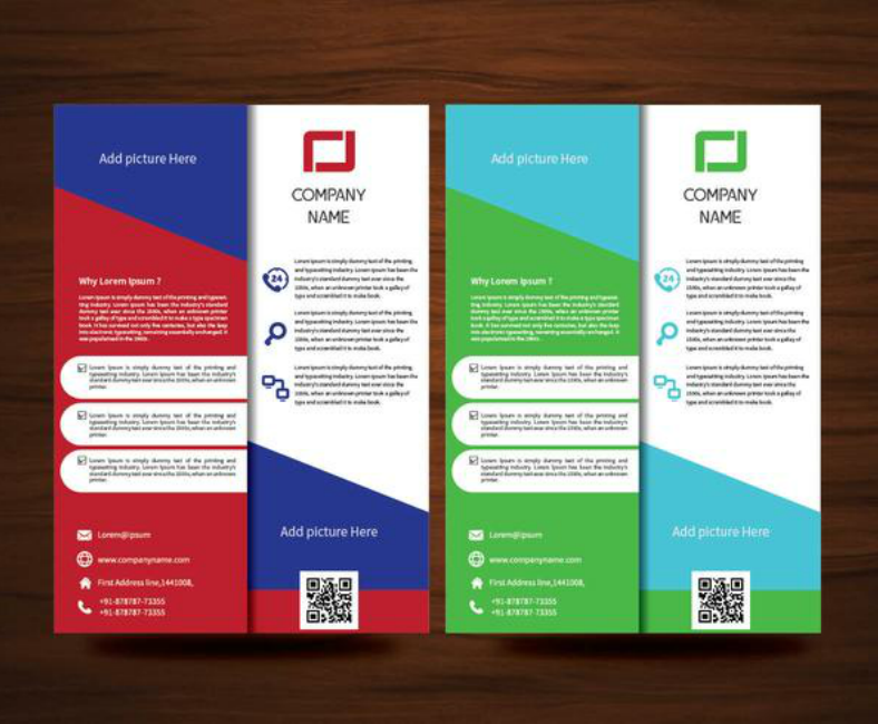 a4 size colorful brochure flyer template 788x650