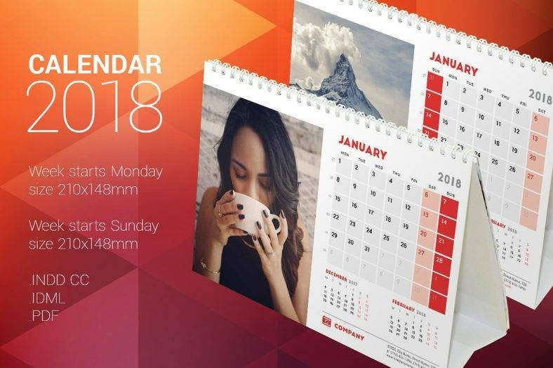 14+ Table Calendar Designs & Templates - PSD, AI, InDesign | Free ...