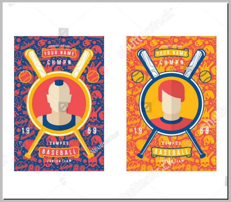 Abstract Pattern Baseball Trading Card