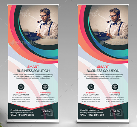 Abstract Roll-Up Banner