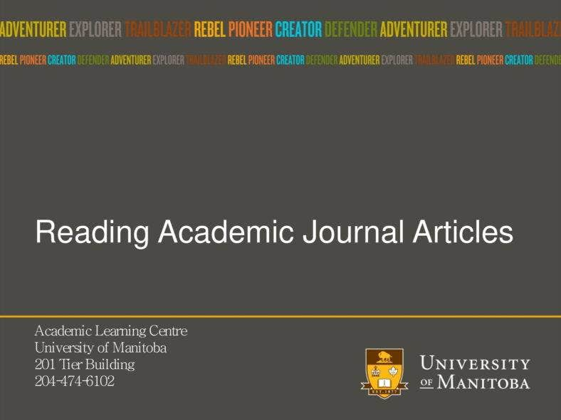 Academic Journal Format