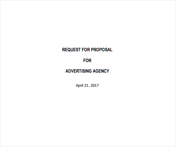 Advertising Agency Request For Proposal