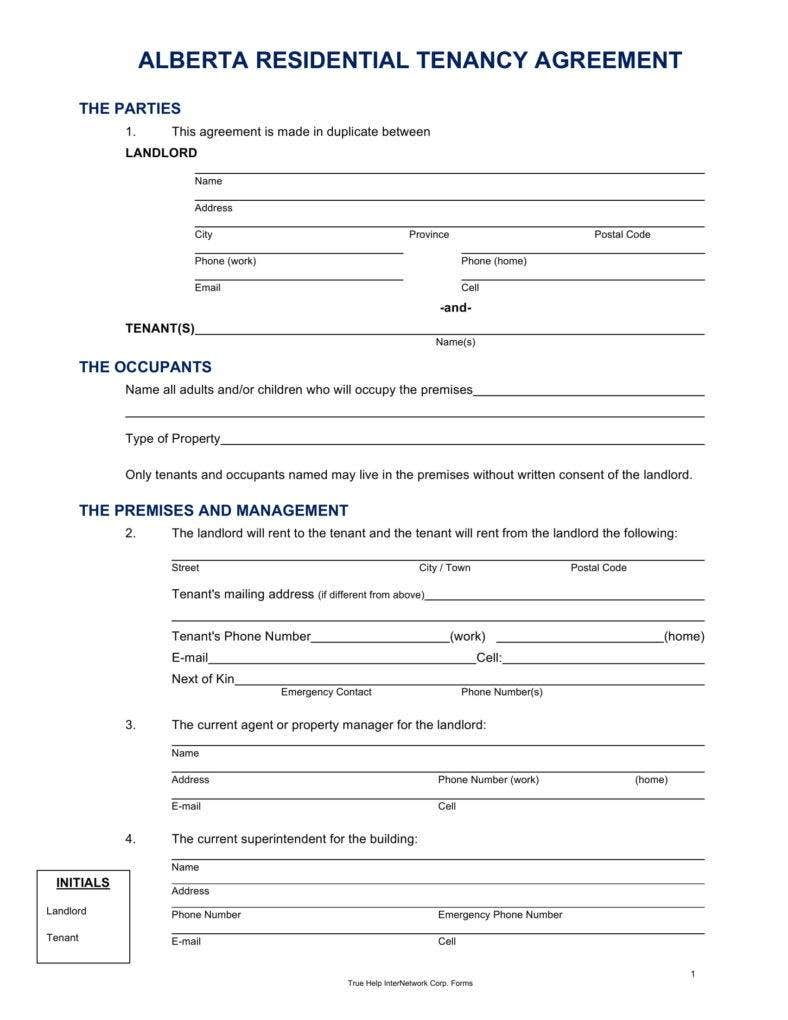 Alberta Lease Agreement.