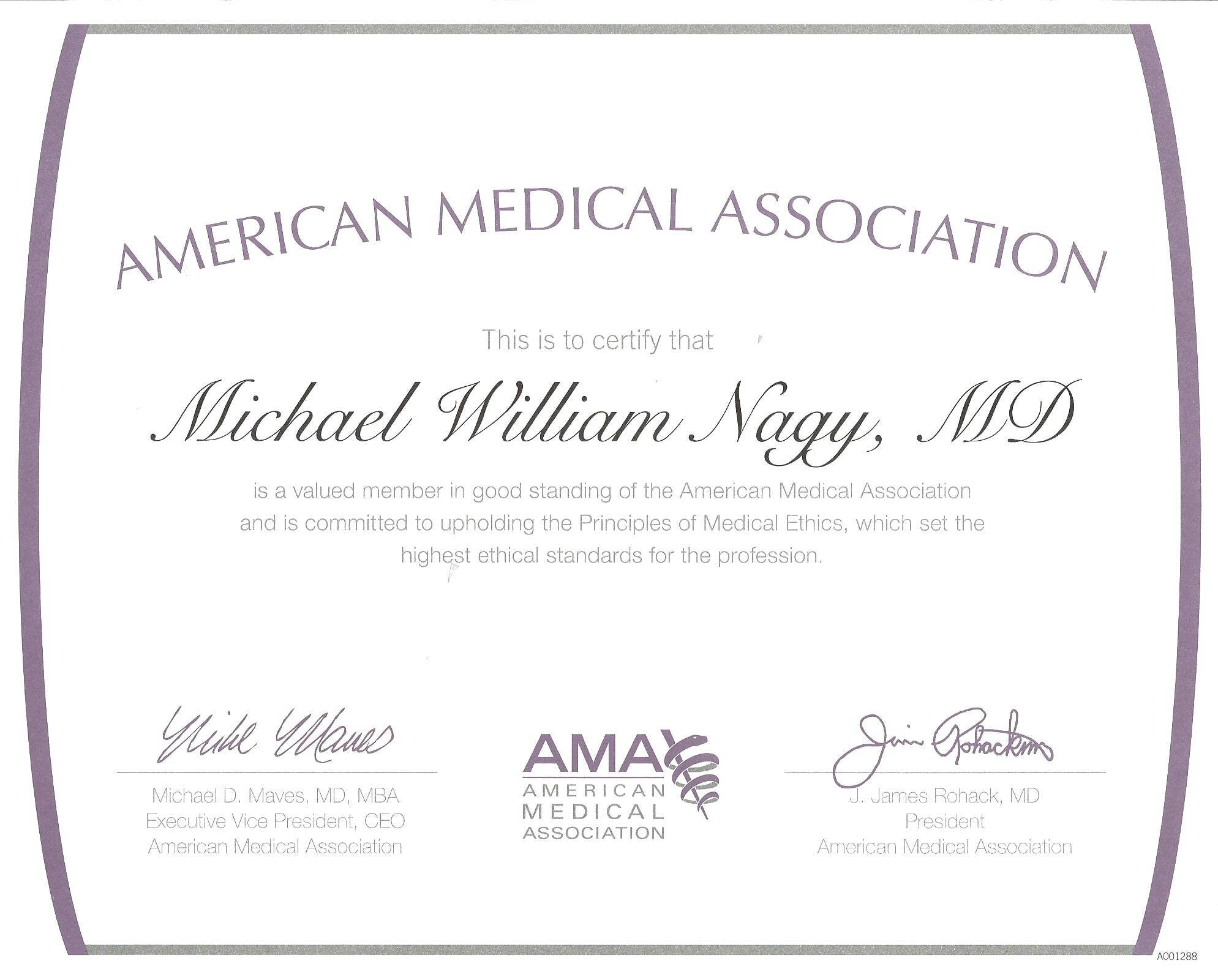 american medical association membership certificate template