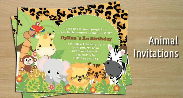 Birthday Invitation Template Safari 4